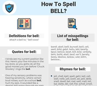 bell, spellcheck bell, how to spell bell, how do you spell bell, correct spelling for bell