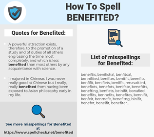 Benefited, spellcheck Benefited, how to spell Benefited, how do you spell Benefited, correct spelling for Benefited