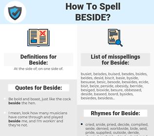 Beside, spellcheck Beside, how to spell Beside, how do you spell Beside, correct spelling for Beside