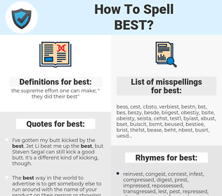best, spellcheck best, how to spell best, how do you spell best, correct spelling for best