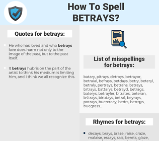 betrays, spellcheck betrays, how to spell betrays, how do you spell betrays, correct spelling for betrays
