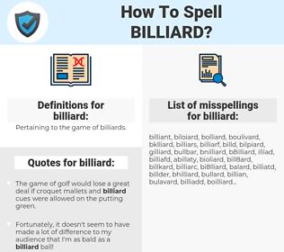 billiard, spellcheck billiard, how to spell billiard, how do you spell billiard, correct spelling for billiard