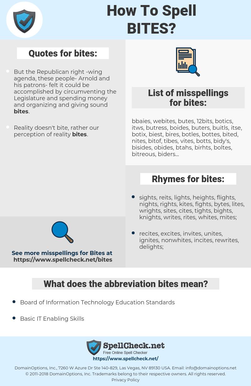 bites, spellcheck bites, how to spell bites, how do you spell bites, correct spelling for bites