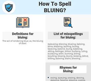 bluing, spellcheck bluing, how to spell bluing, how do you spell bluing, correct spelling for bluing