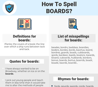 boards, spellcheck boards, how to spell boards, how do you spell boards, correct spelling for boards