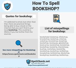 bookshop, spellcheck bookshop, how to spell bookshop, how do you spell bookshop, correct spelling for bookshop