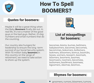 boomers, spellcheck boomers, how to spell boomers, how do you spell boomers, correct spelling for boomers