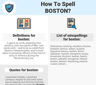 boston, spellcheck boston, how to spell boston, how do you spell boston, correct spelling for boston