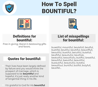 bountiful, spellcheck bountiful, how to spell bountiful, how do you spell bountiful, correct spelling for bountiful