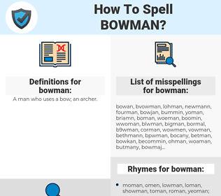 bowman, spellcheck bowman, how to spell bowman, how do you spell bowman, correct spelling for bowman