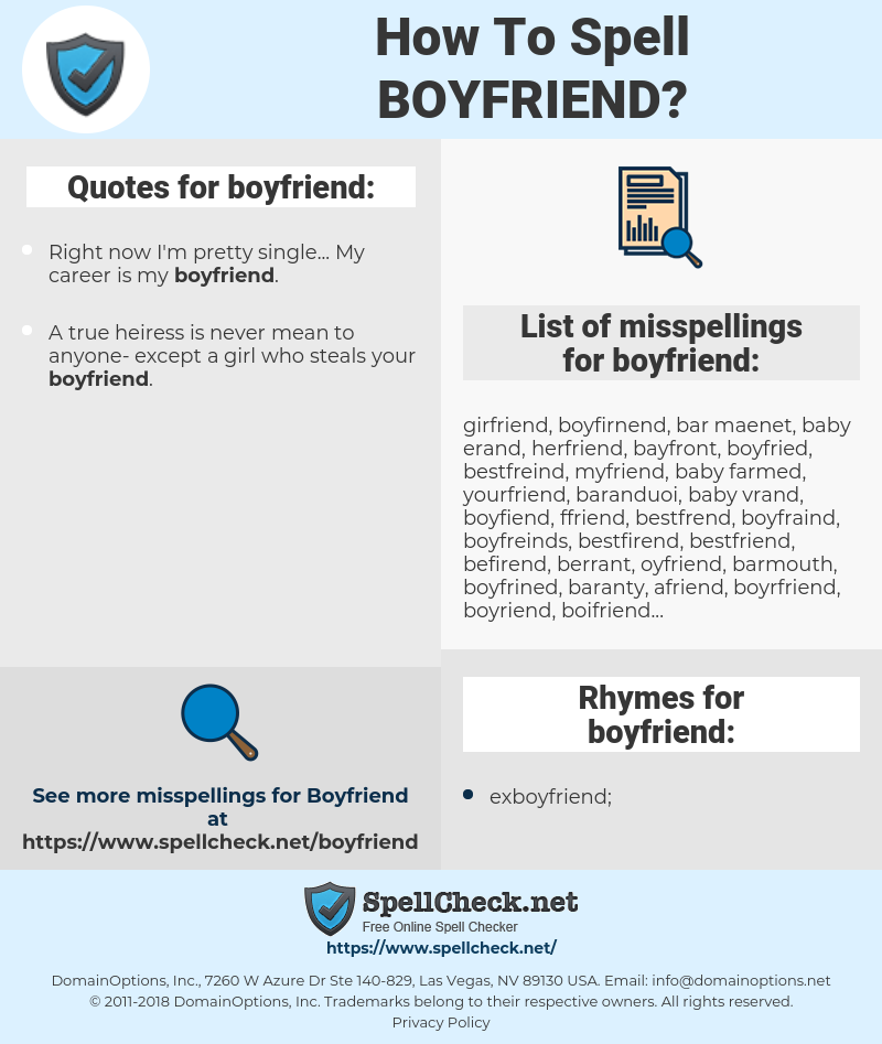 How To Spell Boyfriend (And How To Misspell It Too