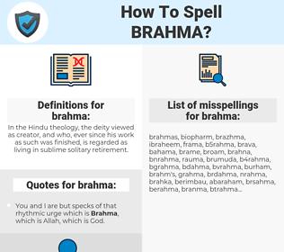 brahma, spellcheck brahma, how to spell brahma, how do you spell brahma, correct spelling for brahma