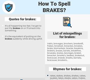 brakes, spellcheck brakes, how to spell brakes, how do you spell brakes, correct spelling for brakes