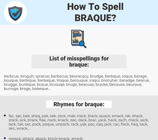 braque, spellcheck braque, how to spell braque, how do you spell braque, correct spelling for braque