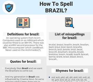 brazil, spellcheck brazil, how to spell brazil, how do you spell brazil, correct spelling for brazil