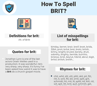 brit, spellcheck brit, how to spell brit, how do you spell brit, correct spelling for brit