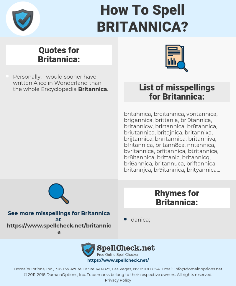 How To Spell Britannica (And How To Misspell It Too