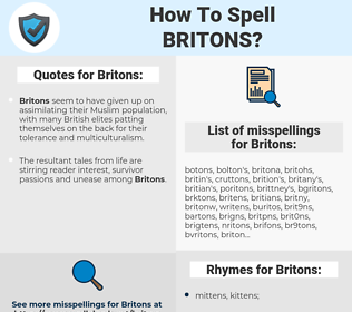 Britons, spellcheck Britons, how to spell Britons, how do you spell Britons, correct spelling for Britons