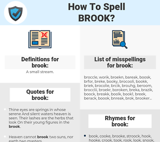 brook, spellcheck brook, how to spell brook, how do you spell brook, correct spelling for brook