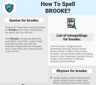 brooke, spellcheck brooke, how to spell brooke, how do you spell brooke, correct spelling for brooke