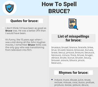 bruce, spellcheck bruce, how to spell bruce, how do you spell bruce, correct spelling for bruce