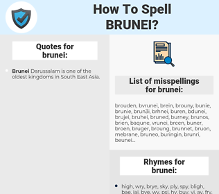 brunei, spellcheck brunei, how to spell brunei, how do you spell brunei, correct spelling for brunei