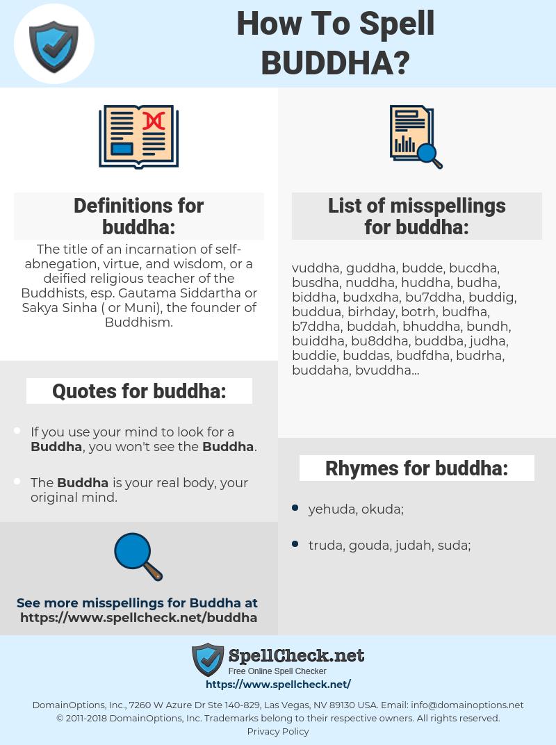 buddha, spellcheck buddha, how to spell buddha, how do you spell buddha, correct spelling for buddha