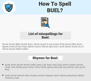 Buel, spellcheck Buel, how to spell Buel, how do you spell Buel, correct spelling for Buel
