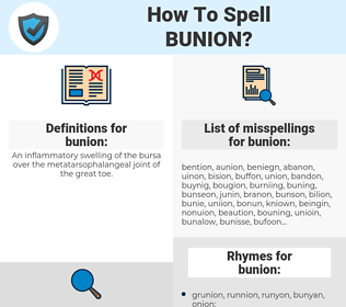 bunion, spellcheck bunion, how to spell bunion, how do you spell bunion, correct spelling for bunion