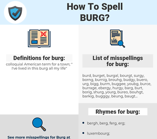 burg, spellcheck burg, how to spell burg, how do you spell burg, correct spelling for burg