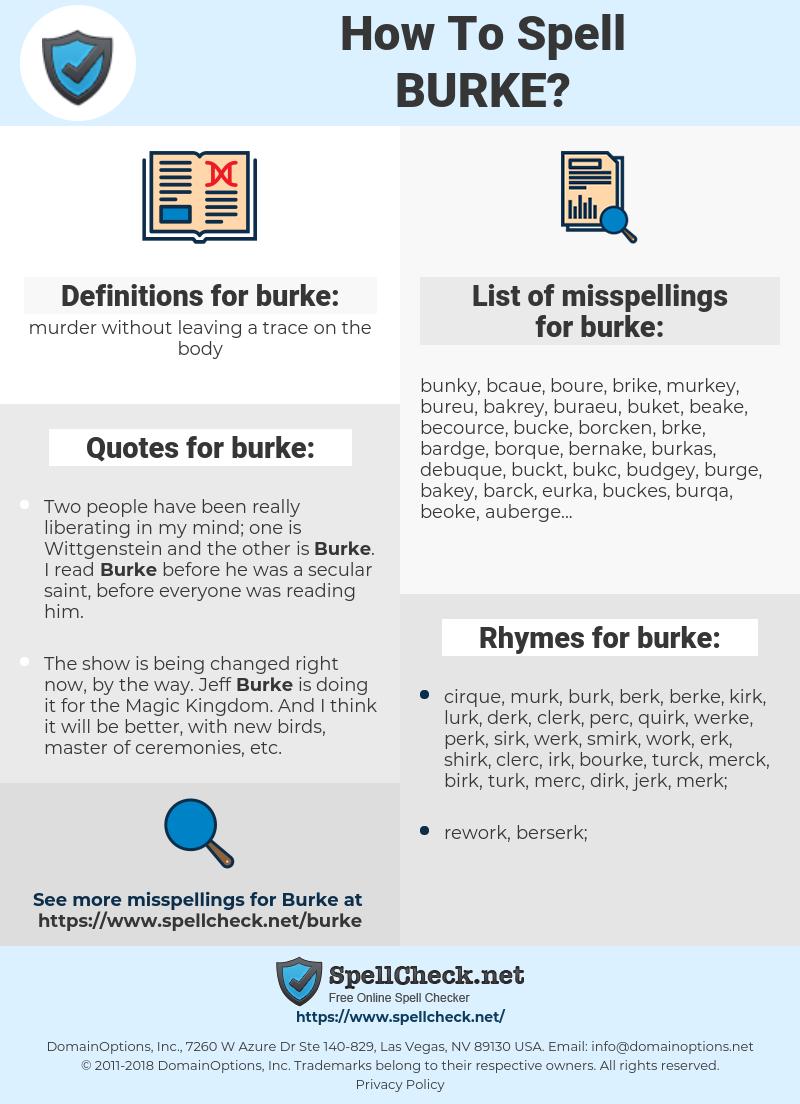 burke, spellcheck burke, how to spell burke, how do you spell burke, correct spelling for burke