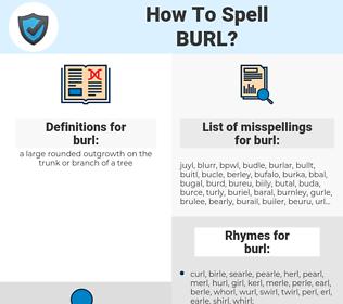 burl, spellcheck burl, how to spell burl, how do you spell burl, correct spelling for burl