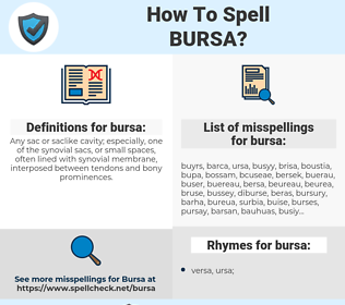 bursa, spellcheck bursa, how to spell bursa, how do you spell bursa, correct spelling for bursa