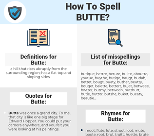 Butte, spellcheck Butte, how to spell Butte, how do you spell Butte, correct spelling for Butte