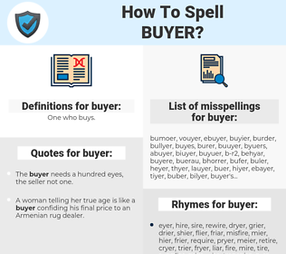 buyer, spellcheck buyer, how to spell buyer, how do you spell buyer, correct spelling for buyer