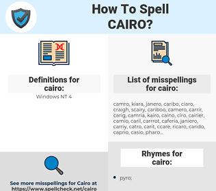 cairo, spellcheck cairo, how to spell cairo, how do you spell cairo, correct spelling for cairo