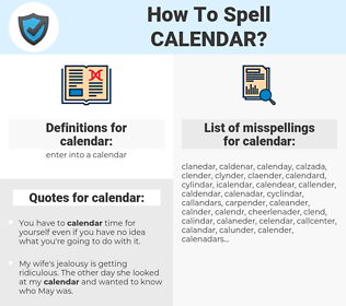 calendar, spellcheck calendar, how to spell calendar, how do you spell calendar, correct spelling for calendar