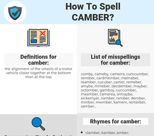 camber, spellcheck camber, how to spell camber, how do you spell camber, correct spelling for camber