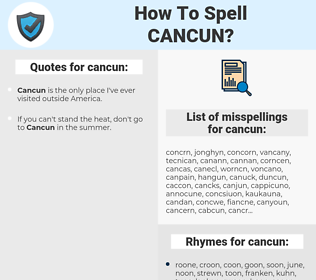 cancun, spellcheck cancun, how to spell cancun, how do you spell cancun, correct spelling for cancun