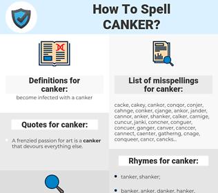 canker, spellcheck canker, how to spell canker, how do you spell canker, correct spelling for canker