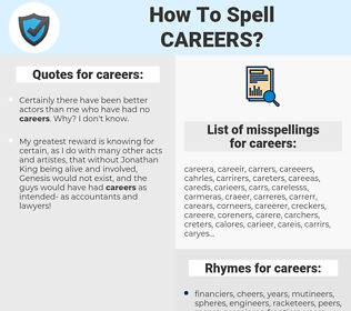 careers, spellcheck careers, how to spell careers, how do you spell careers, correct spelling for careers