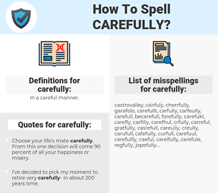 carefully, spellcheck carefully, how to spell carefully, how do you spell carefully, correct spelling for carefully