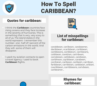 caribbean, spellcheck caribbean, how to spell caribbean, how do you spell caribbean, correct spelling for caribbean