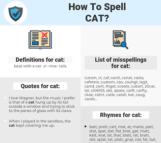 cat, spellcheck cat, how to spell cat, how do you spell cat, correct spelling for cat