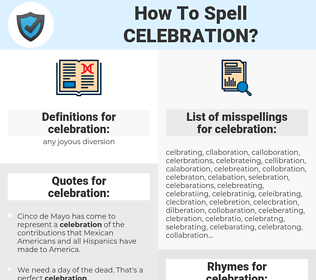 celebration, spellcheck celebration, how to spell celebration, how do you spell celebration, correct spelling for celebration