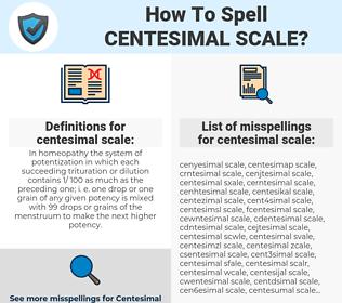 centesimal scale, spellcheck centesimal scale, how to spell centesimal scale, how do you spell centesimal scale, correct spelling for centesimal scale