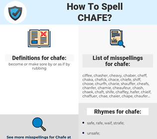 chafe, spellcheck chafe, how to spell chafe, how do you spell chafe, correct spelling for chafe