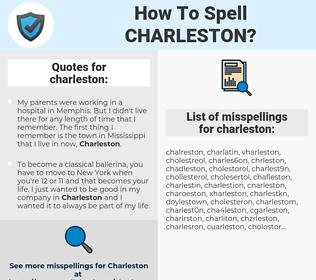charleston, spellcheck charleston, how to spell charleston, how do you spell charleston, correct spelling for charleston