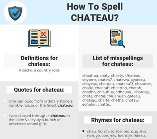chateau, spellcheck chateau, how to spell chateau, how do you spell chateau, correct spelling for chateau