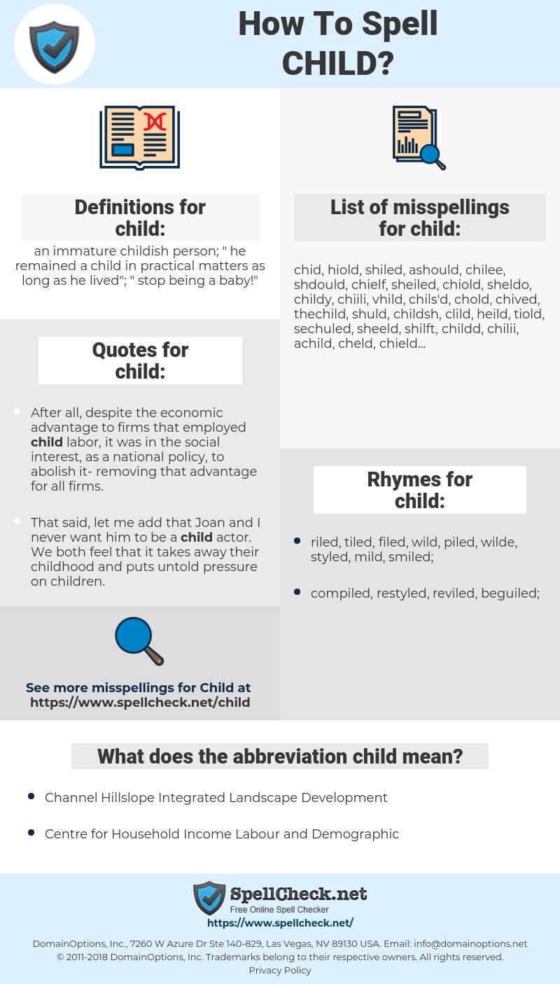 child, spellcheck child, how to spell child, how do you spell child, correct spelling for child